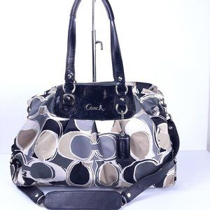 Coach 17644 Ashley Scarf Print Satchel Tote Should